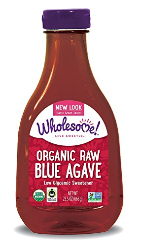 Wholesome Sweeteners Organic raw blue agave, 23.5-Ounce Bottles (Pack of 6)
