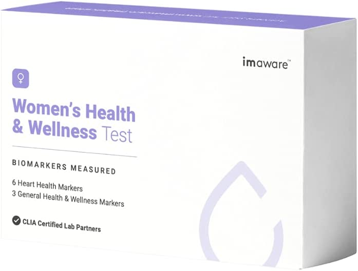 imaware Women's Health and Wellness Test | At-Home Finger Prick | Accurate Results with Easy to Understand Report | Tested at CLIA Certified Labs