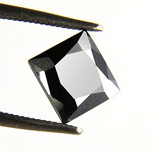 skyjewels Certified 3.05 Ct Princess Cut Black Diamond Africa by skyjewels