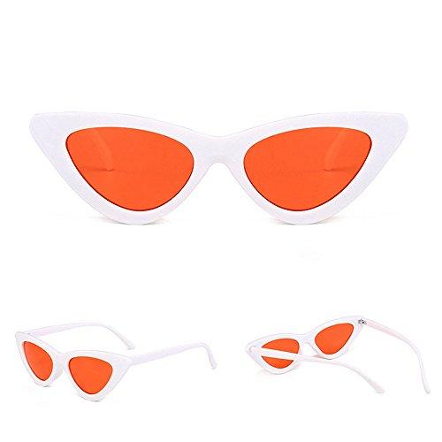 DAY.LIN Ray Ban Sonnenbrille Damen Herren Frauen-Mode-Katzenaugen-Shades-Sonnenbrille integrierte UV-Süßigkeit-farbige Gläser H