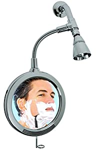 ShowerTek CXL 1X/3X Magnified Fog Proof Shower Mirror, Chrome