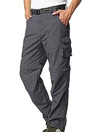 Men's Outdoor Quick Dry Convertible Lightweight Hiking Fishing Zip Off Cargo Work Pant #225