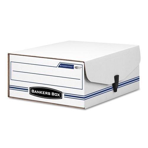 Fellowes 48110 Liberty Binder-Pak Storage Box, Letter, Snap Fastener, ()