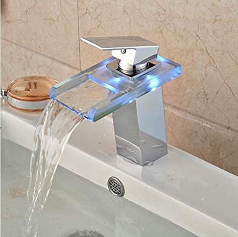 Basin Sink Faucet Deck Mount Waterfall Brass Bathroom Vessel Sink Mixer Tap Chrome Finish B