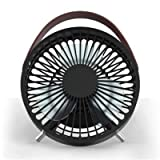 Gelaiken Desktop Fan Home Fan USB Electric Fan Portable Dormitory 14Cm Student Desktop Mute. Black Table Desk Fan for Home and Travel (Color : Black)
