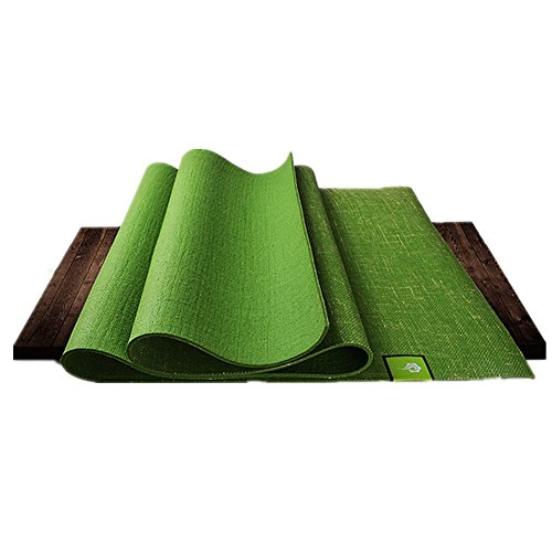 SUNVP 5mm Pure Natural Jute Handmade Rubber Yoga Mat Professional Non Slip Strength Fitness for Yoga (including Hot and Bikram) or Pilates