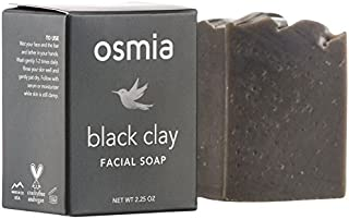 product image for Osmia Black Clay Cleansing Facial Soap - Hydrating Australian Clay, Exfoliating Dead Sea Mud & Coconut Milk Bar for Face with Organic Almond & Avocado Oils - For Problem & Combination Skin (2.25 oz.)