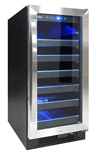Vinotemp Butler Series 30-Bottle Wine Cooler Black/Stainless Steel VT-32SBB