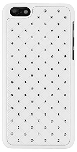"""Strass Housse Case Cover Coque arrière Blanc pour """"Apple iPhone 55S Étui Coque Coque bumper paillettes Bling"""