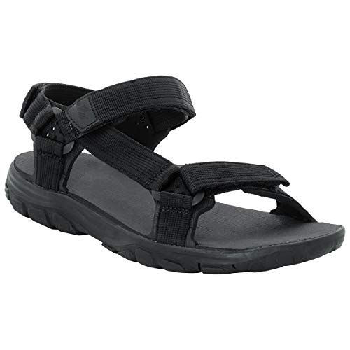 (Jack Wolfskin Men's Seven SEAS 2 Sandal Men's Travel Sandal Sandal, Phantom, US Men's 12 D US)