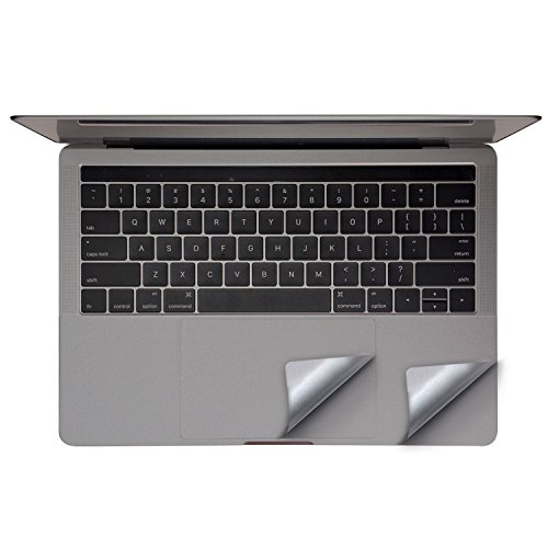 FORITO Palm Rest Cover Skin with Trackpad Protector for New 13 Inch MacBook Pro Model A1706 & A1708 with or without Touch Bar, 2017 or 2016 Released(Space Gray)
