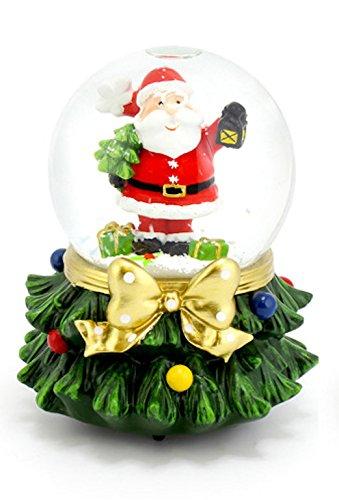 shudehill Musicaux Père Noël Globe de Neige Boule à Neige Tempête de Neige dans Une boîte Cadeau The Good Life