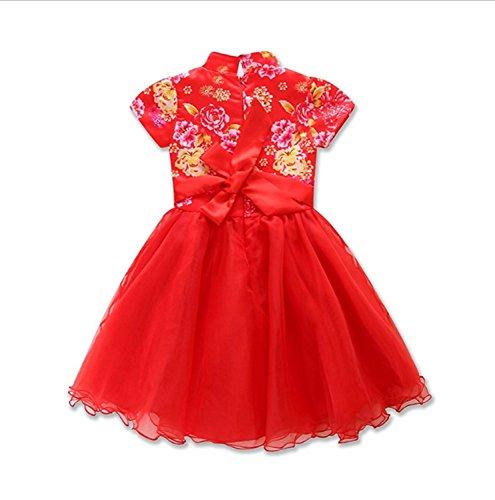 Tutu Costume Red Idea (True Meaning Pretty Little Girls' Red Chinese Style Cheongsam Princess Tutu)