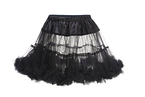 Black Halloween Costumes 2016 (BlingblingDresses 2016 Women's Tutu Dress Halloween Costumes Short Skirt Black)