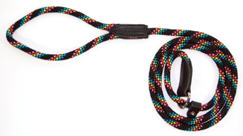 Hamilton London Quick Green Braid Dog Collar & Leash Combo, 6' L X 5/16