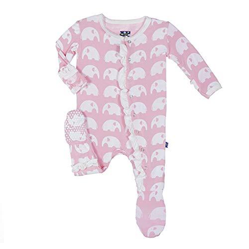 Kickee Pants Essentials Ruffle Footie Lotus Elephant (6-9 months)