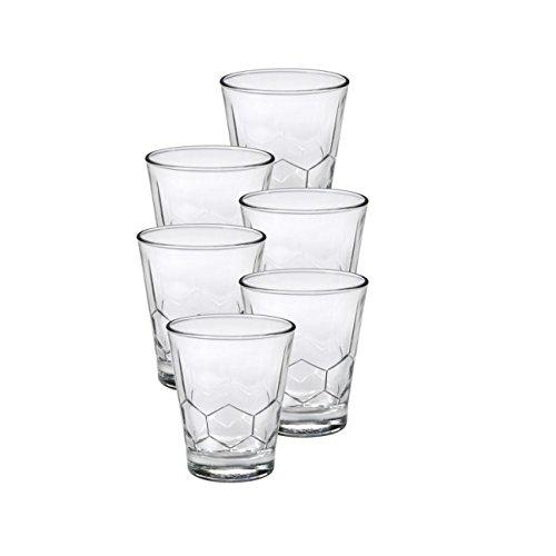 Clear Glass Duralex Hexagon 9.125 oz 26 Cl Tumbler Set of 6