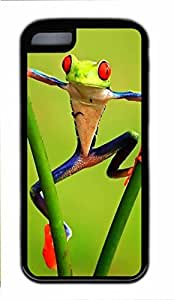 Black Case,Fashion Cool Art Funny Frog Custom Protective Soft TPU Back Case Cover for iphone 5C