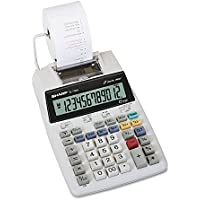Printing Calculator, Twelve-Digit, Two-Color, AC/DC, 8-1/2x5-9/10 SHREL1750V by Sharp
