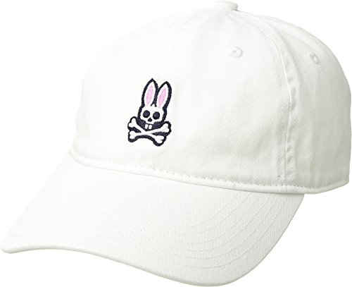Psycho Bunny Men's Sunbleached Cap White One (White Bunny Hat)