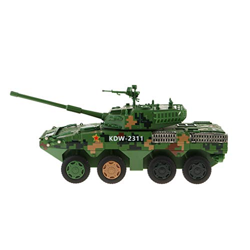 Flameer Army Hobby Collectibles 1/32 Scale Alloy Die-cast Heavy Tank Army Tank Military Vehicles Pull Back Friction Freewheeling Tank Car Toy from Flameer