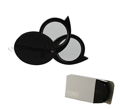 Price comparison product image Quality Optics 5X 10X Double 2 Lens Folding Magnifier Jewelers Pocket Loupe Magnifying Glass US