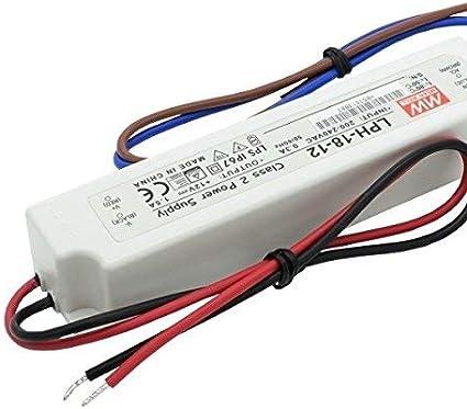 /12/Bloc dalimentation transformateur 12/V 18/W 12/V 18/W 1,5/A MeanWell Driver 18/MW LPH/