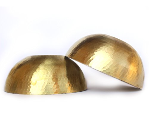 De Kulture Works Hand Made Brass Bowls Set Of 2-4.5X2 DH (Inches) (Gold)