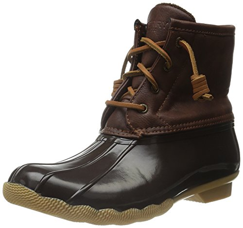 Sperry Saltwater Rain Boot (Little Kid/Big Kid) Brown/Brown