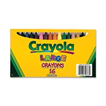 Crayola 16-Count Large Crayons - Lift Lid Box (52-0336)