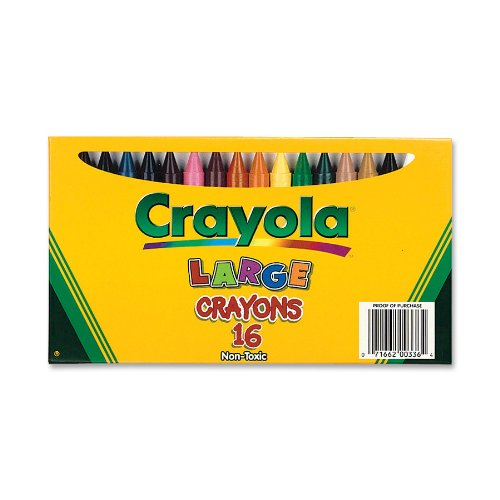 Crayola 16-Count Large Crayons - Lift Lid Box (52-0336)