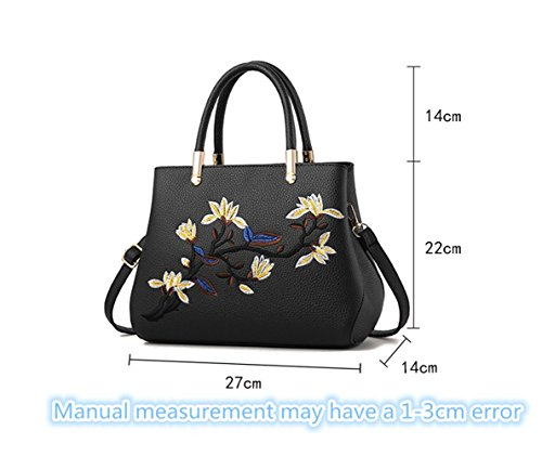 Pahajim Blue bag for an fashion bag embroidered The with is shoulder slanted women new Light handbag a RprxaRqAw