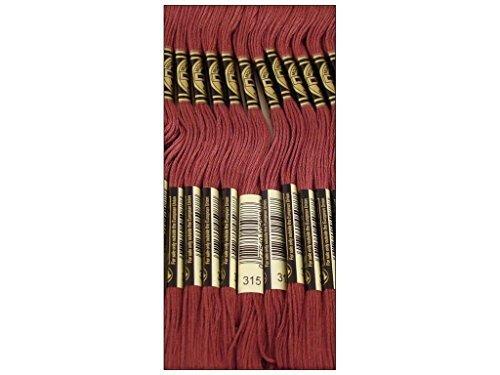 Bulk Buy: DMC Thread Six Strand Embroidery Cotton 8.7 Yards Dark Antique Mauve 117-315 (12-Pack) (Antique Dmc Floss)