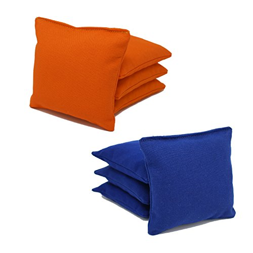Free Donkey Sports ACA Regulation Cornhole Bags (Set of 8) (Royal and Orange)