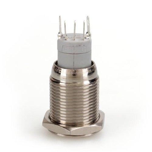Demarkt Druckschalter Drucktaster Taster Schalter 3A 12V 16mm Metall Blau Druckknopf