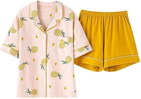 LXFDSY Más el Tamaño M-XXL Mujeres Pijamas Conjuntos de algodón Ropa de Dormir Verano Piña Pijamas Ropa de Dormir Mujer s: Amazon.es: Deportes y aire libre