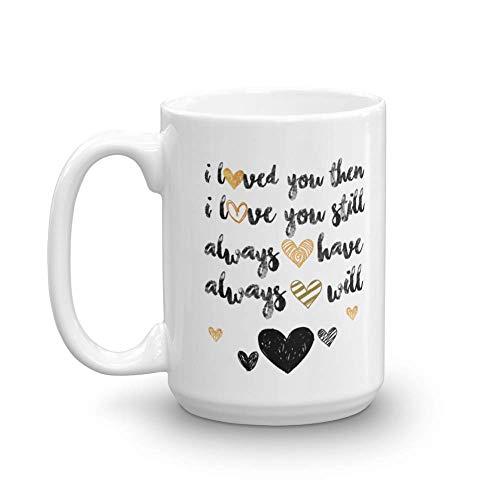 I Love You Sweet Romantic Valentine's Day, Marriage Anniversary, Engagement Or Wedding Day Coffee & Tea Gift Mug For Boyfriend, Girlfriend, Fiance, Fiancee, Husband, Wife, Bride, Groom & BFF (15oz) ()