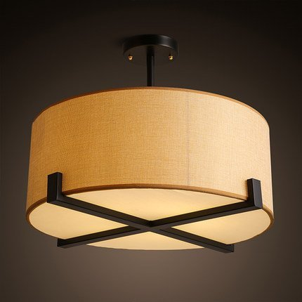 JJ moderna lámpara de techo LED Lente redonda telas modernas ...