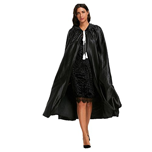 NOMENI Halloween Adult Hooded Unisex Cape Cloak Devil Wicca Robe (Sexy Dorthy Costumes)