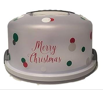 Amazon De Weihnachten Tragbar Kuchen Pie Container Urlaub Catering