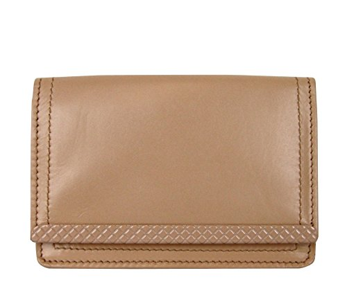 Bottega Veneta Coin Purse Peach Leather Card Holder Wallet 310531 6702