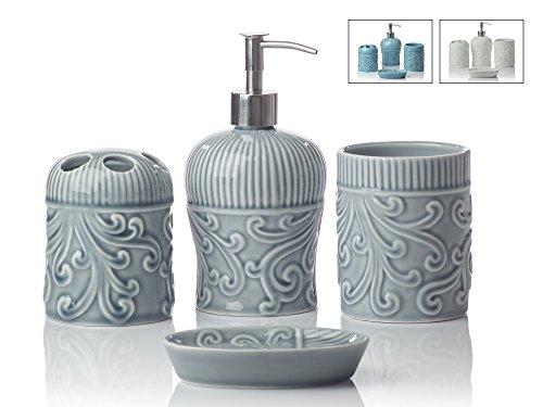 Designer 4-Piece Ceramic Bath Accessory Set