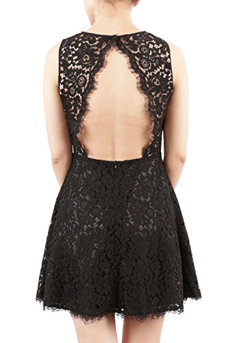 Cocktail MACloth Lace Neck Dress High Party Mini Short Violett Gown Formal Sleeveless tYSYOwrq