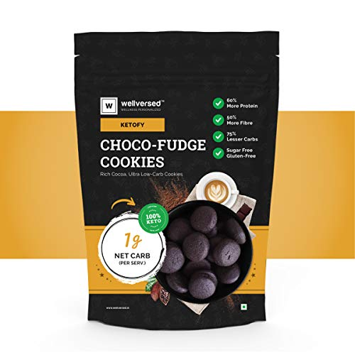 Ketofy – Choco Fudge Keto Cookies (200g)   Gluten-Free Intense Choco Indulgence