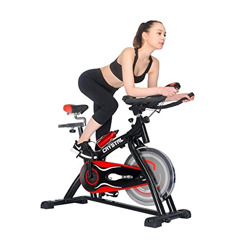 HYD-Parts Indoor Cycling Bikes with LCD Monitor and Free Bottle Trainer Bicycle Stationary Fitness Equipment with 30lbs flywheel Exercise Bike