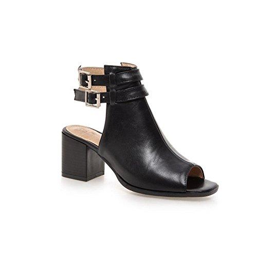 Adee Ladies ankle-cuff Sandalias de poliuretano Sandalias Negro - negro