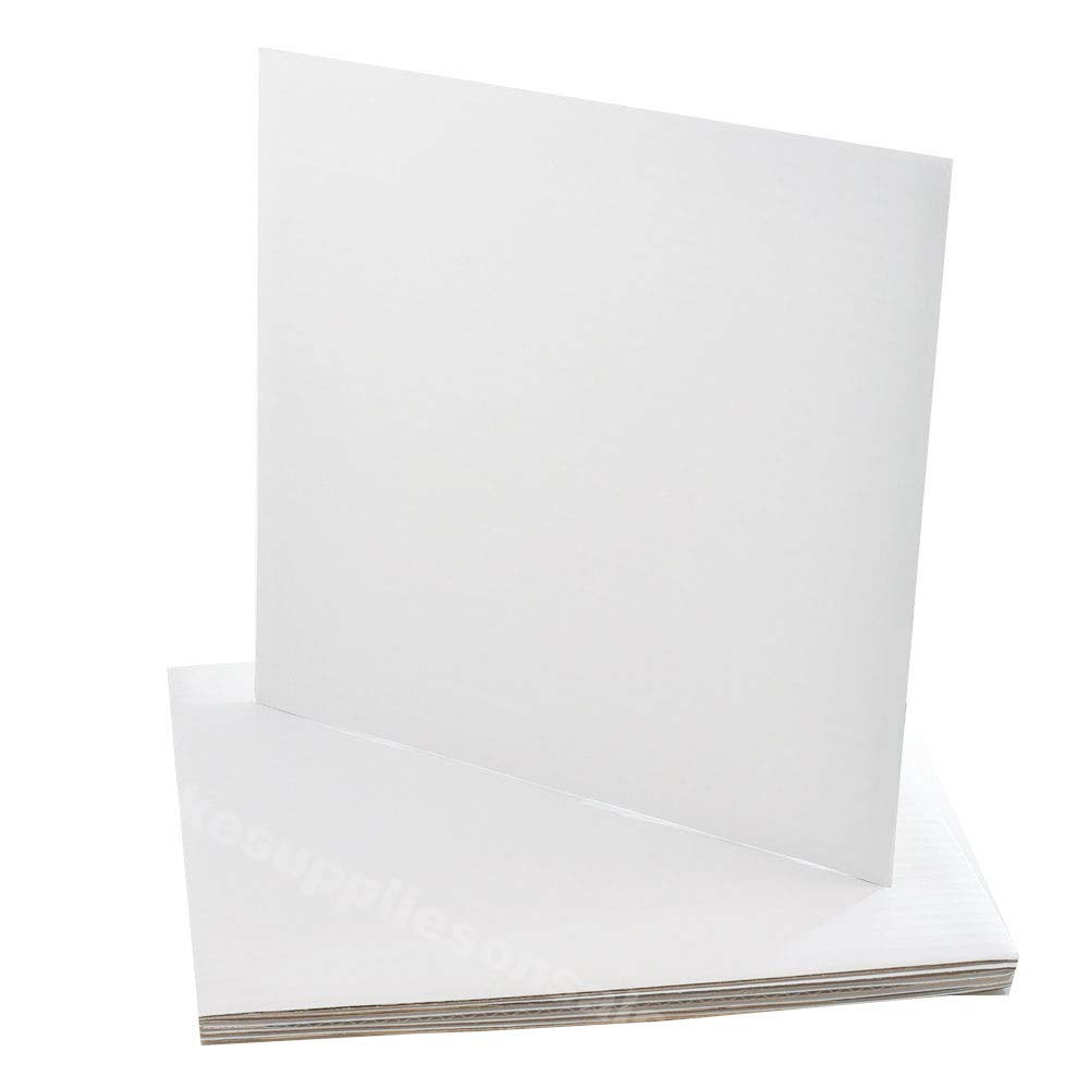 """9"""" Square Coated Cakeboard 6 ct"""