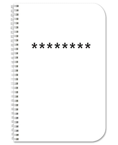 BookFactory Password Journal/Password Organizer/Password  Book/Logbook/Password Keeper, 120 Pages, 3 1/2