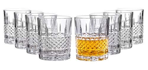 Castlecombe Lowball Whiskey Glasses, 8 Pc. Set, 10.6 ounce Short Drinking Glassware for Liquor, Bourbon, Rye, or Beer…