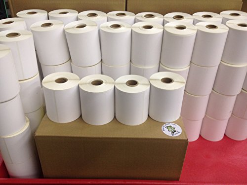 "4 Rolls of 500 4"" x 3"" Direct Thermal for Zebra 2844 ZP-450 ZP-500 ZP-505 Shipping Labels, 1"" Cores Roll. 2000 Blank Labels Brand Made in the USA."